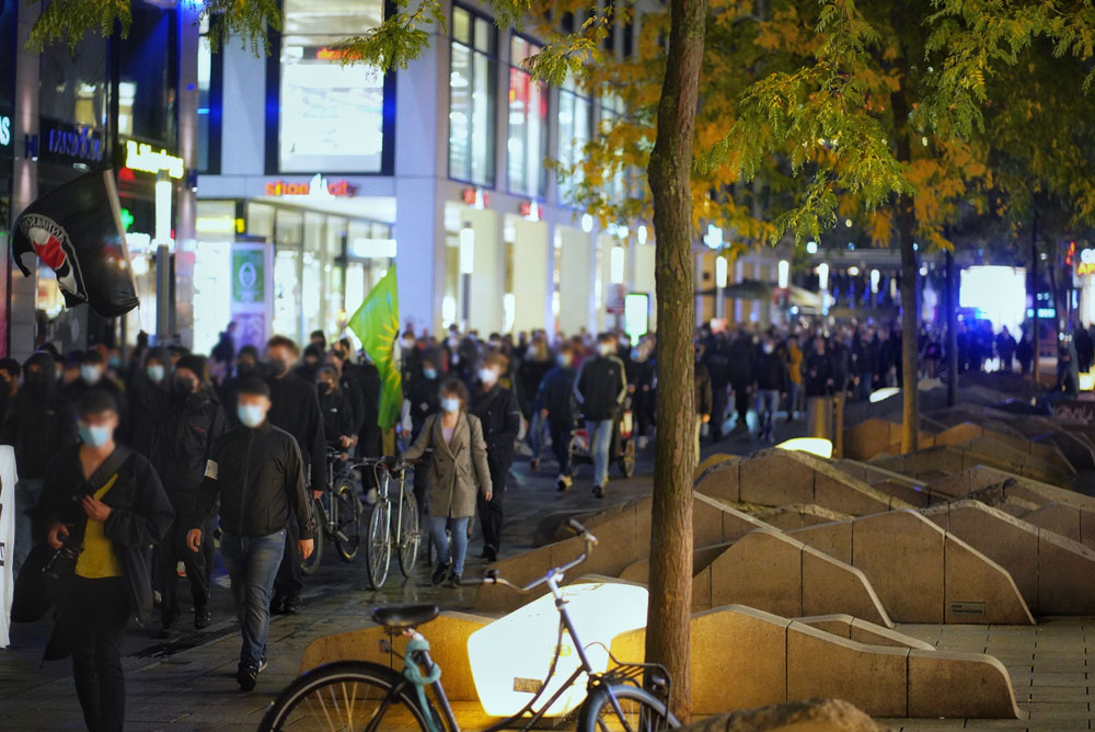Die Demonstration vom 27. September 2021 führte durch die Leipziger Innenstadt. Foto: LZ