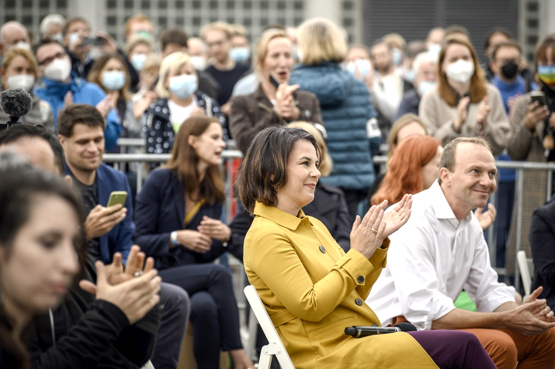 Annalena Baerbock und Sachsens Umweltminister Wolfram Günther (Grüne). Foto: Tim Wagner