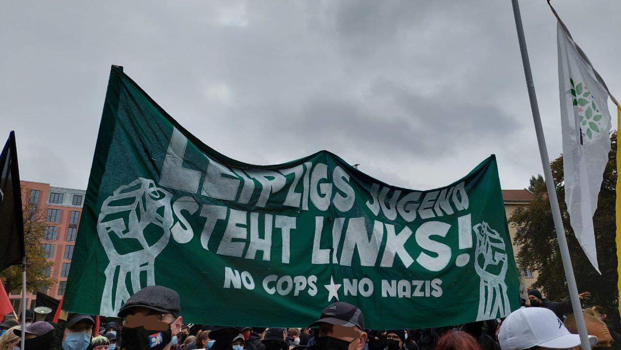Demonstration am Johannisplatz