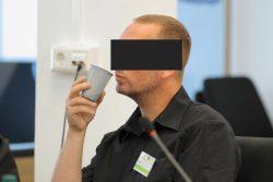 War bereits am zweiten Verhandlungstag angereist: Nebenkläger und Zeuge Enrico Böhm. Foto: Peter Schulze