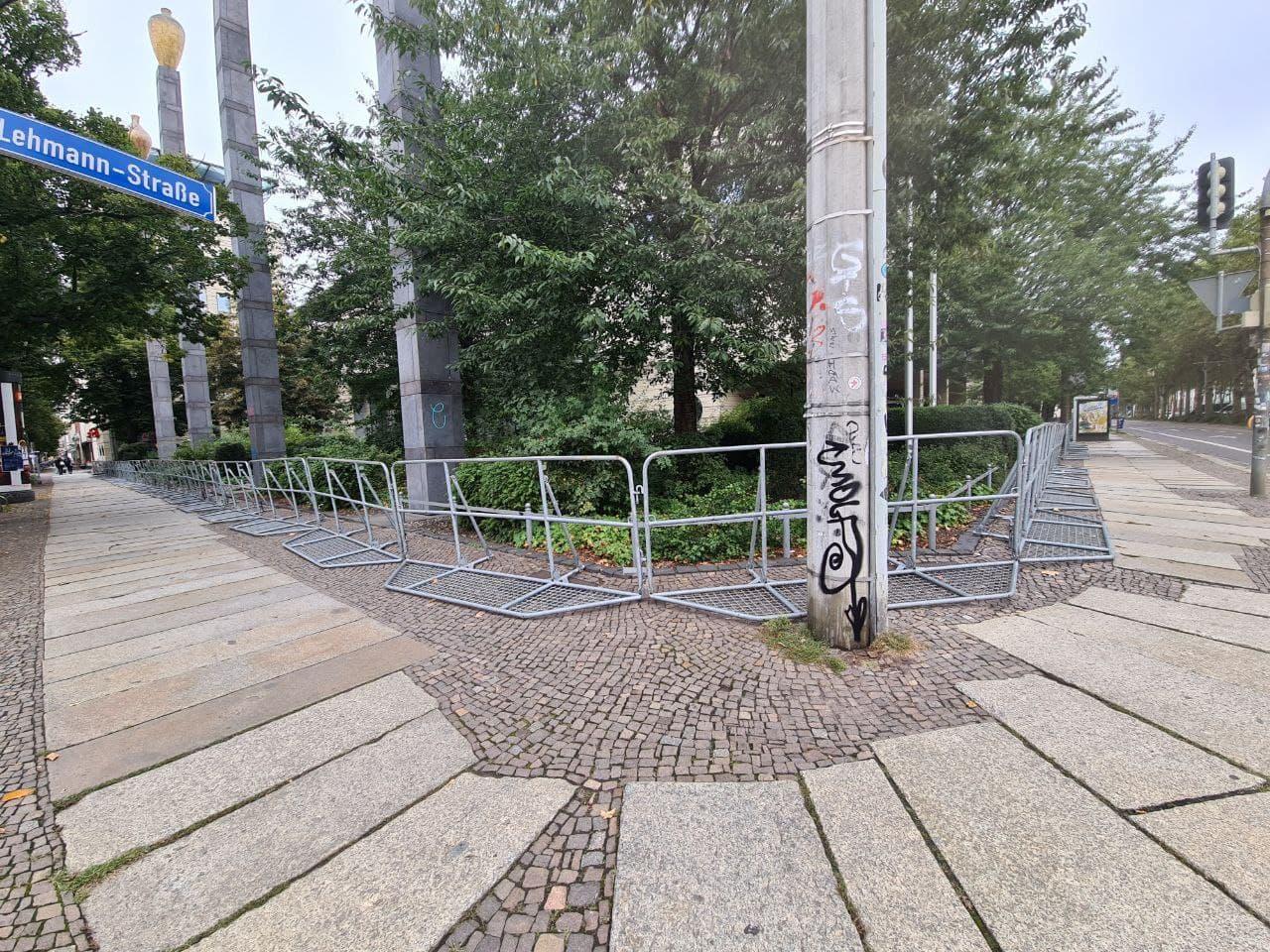 Gitter an der Richard Lehmann Straße. Foto: LZ