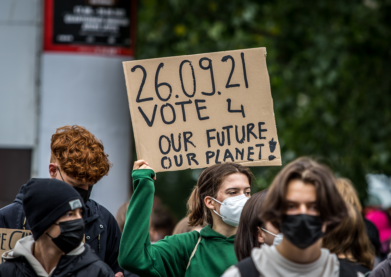 Klimastreik am 24.9.2021 in Leipzig. Foto: Tilly Domian