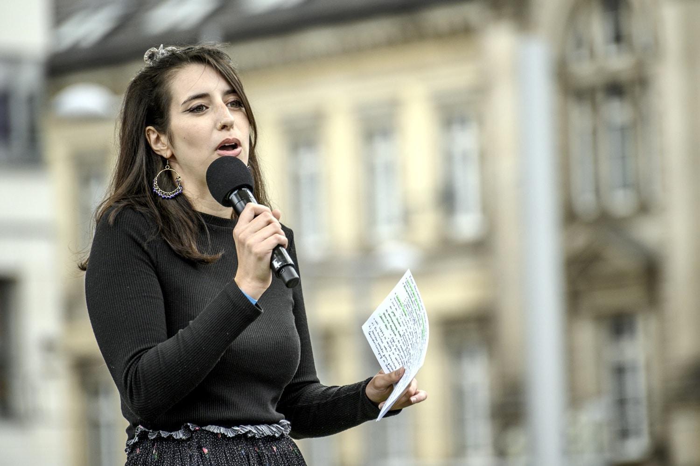 Marie Müser, Grüne Spitzenkandidatin in Leipzig Nord. Foto: Tim Wagner