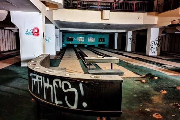 Blick in die alte Bowling-Anlage. Foto: Naturkundemuseum, Jeremy Kuleman