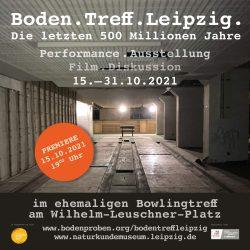 """Einladung zum """"Boden. Treff. Leipzig"""". Grafik: Naturkundemuseum Leipzig"""