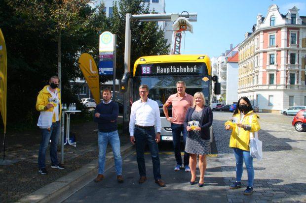 Pressetermin an der Endstelle Connewitz Kreuz. Foto: Ralf Julke