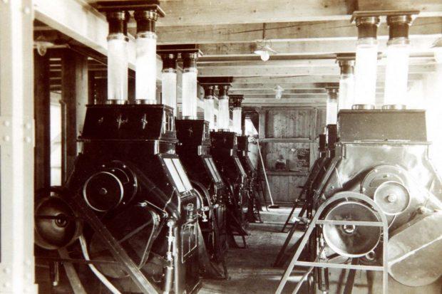 Großmühle Grimma, Innenansicht um 1927 Foto: Kreismuseum Grimma