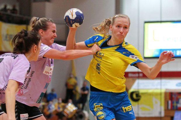 Jaqueline Hummel führt die HCL-Frauen auch in der neuen Saison als Kapitänin aufs Spielfeld. Foto: Jan Kaefer