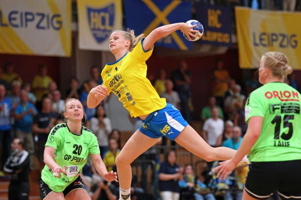 Julia Weise wird dem HC Leipzig auf der Platte sehr fehlen. Wie lange sie ausfällt, ist derzeit noch unklar. Foto: Jan Kaefer