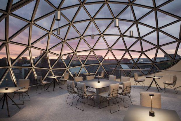 Blick aus der Oscar Niemeyer Sphere. Foto: Margret Hoppe / Sebastian Stumpf