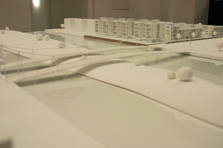 Einer der Wettbewerbsentwürfe für den geplanten Olympia-Hafen von 2004. Archivfoto: Ralf Julke