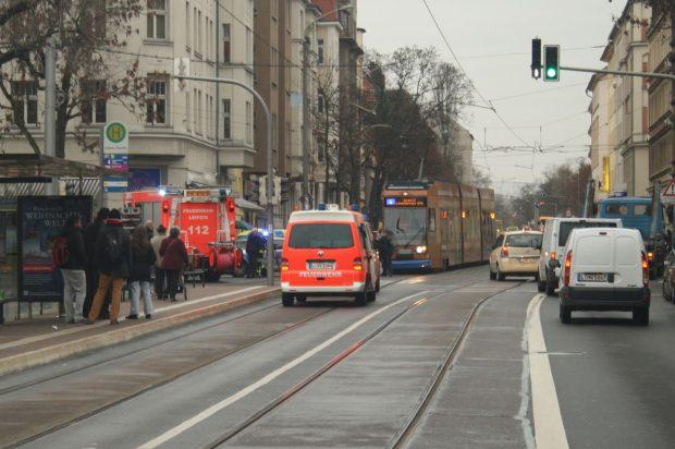 Dieser Abschnitt der Riebeckstraße ist leiderf noch nicht für Radfahrstreifen vorgesehen. Archivfoto: Ralf Julke
