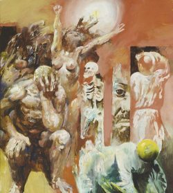 Willi Sitte, Unmöglichkeit zu vergessen, 1977. Foto: Galerie Schwind