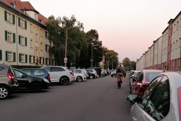 Radfahrer im Triftweg. Foto: privat