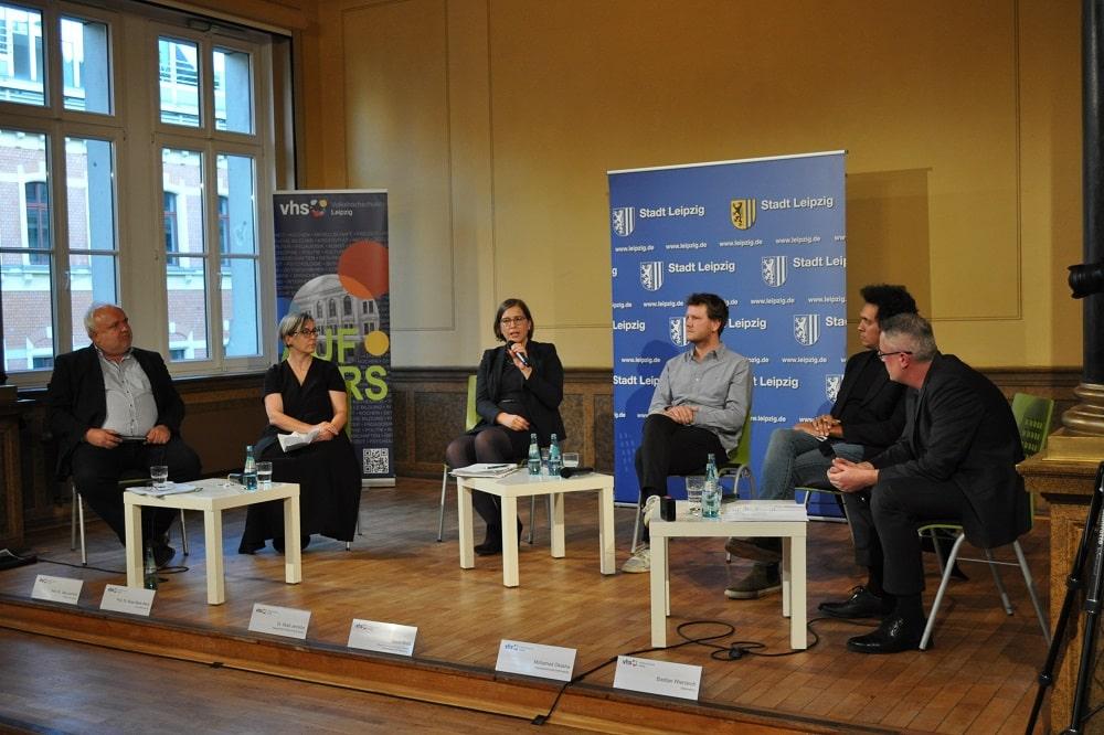Podiumsdiskussion zur Leipziger Kolonialgeschichte am 30. September 2021. Foto: LZ
