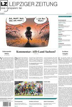 Die Leipziger Zeitung, Ausgabe 95. Seit 1. Oktober 2021 im Handel. Foto: LZ