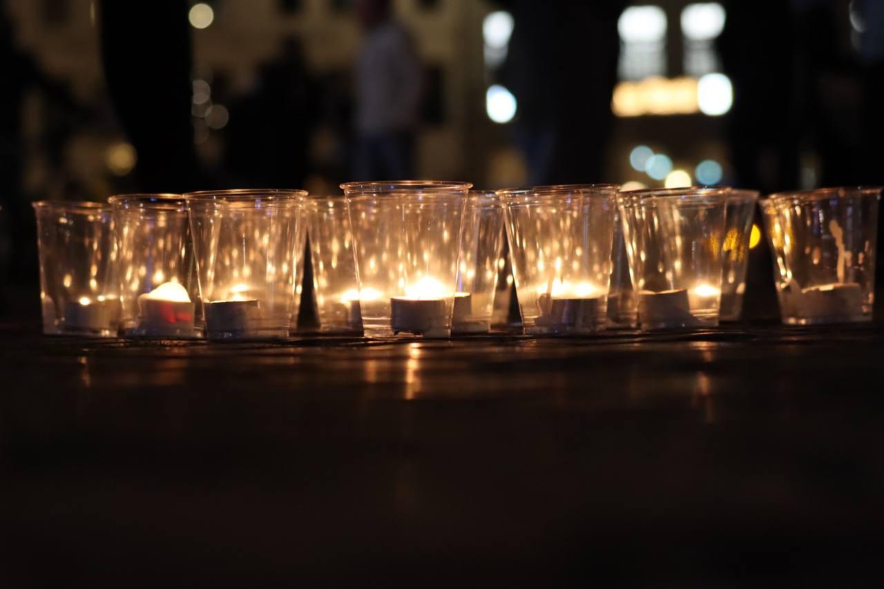 Lichter zum Gedenken an den 9. Oktober 1989. Foto: LZ