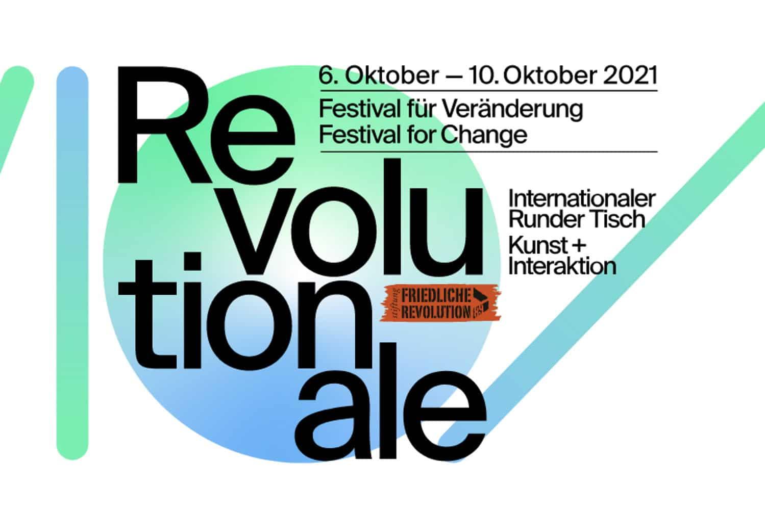 Revolutionale 2021. Logo: Stiftung Friedliche Revolution