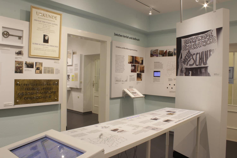 Ausstellung Umbrüche Schule seit 1989 im Schulmuseum Leipzig. Foto: Schulmuseum Leipzig