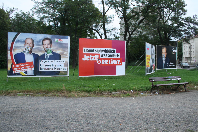 Wahlplakate zur Bundestagswahl 2021. Foto: Ralf Julke