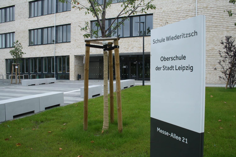 Die gerade eröffnete Oberschule Wiederitzsch. Foto: Ralf Julke